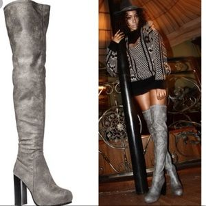 Jeffrey Campbell Kitsap Gray Over the Knee